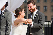 06.18.16 - Chicago, Illinois - Sarah and Charles get married at Ignite Glass Studios in Chicago in front of family and friends. Their portraits were at the Wit Hotel, The Chicago Theatre and Palmer Square.