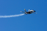 Blue Angels jet flyby during 2006 Fleet Week performance in San Francisco