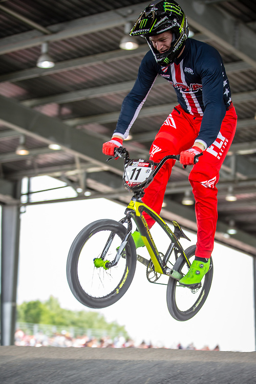 #11 (FIELDS Connor) USA at Round 6 of the 2019 UCI BMX Supercross World Cup in Saint-Quentin-En-Yvelines, France