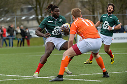 March 4, 2017 - Amsterdam, Netherlands - Aderito Esteves of Portugal during the Rugby Europe Trophy match between the Netherlands and Portugal at the National Rugby Centre Amsterdam on March 04, 2017 in Amsterdam, Netherlands. (Credit Image: © Andy Astfalck/NurPhoto via ZUMA Press)