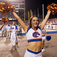 Football vs. WSU, Crowd, Bronco Walk, Brooke Sutton Photo