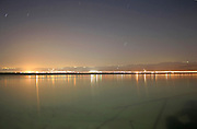 night view of the jordanean coast at the dead sea