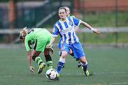 Brighton's Kate Natkiel on the ballBrighton's Kate Natkiel on the ball during the FA Women's Premier League match between Forest Green Rovers Ladies and Brighton Ladies at the Hartpury College, United Kingdom on 24 January 2016. Photo by Shane Healey.