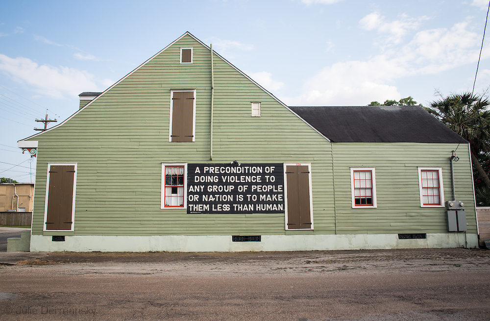 Home with message about violince in the Marigny,  almost ten years after Hurricane Katriana.