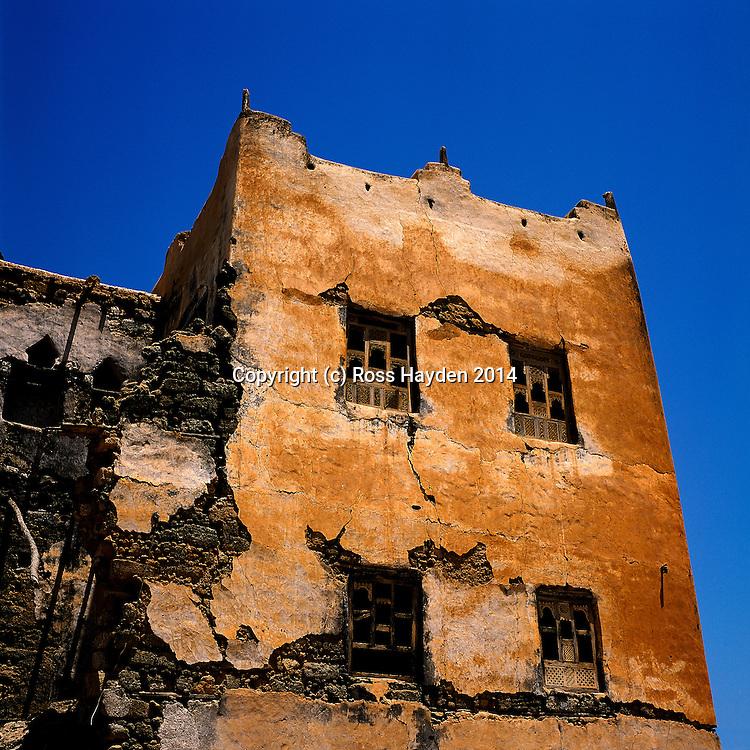 Bait Sadof - Upper Windows on 19th Century Arab Merchants House in Mirbat, Dhofar, Oman
