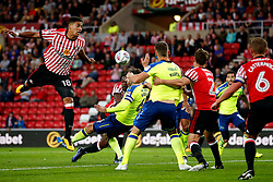 Tyias Browning of Sunderland fires a header at goal  - Mandatory by-line: Matt McNulty/JMP - 04/08/2017 - FOOTBALL - Stadium of Light - Sunderland, England - Sunderland v Derby County - Sky Bet Championship