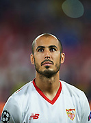 SEVILLE, SPAIN - NOVEMBER 01:  Guido Pizarro of Sevilla FC looks on priot to the UEFA Champions League group E match between Sevilla FC and Spartak Moskva at Estadio Ramon Sanchez Pizjuan on November 1, 2017 in Seville, Spain.  (Photo by Aitor Alcalde Colomer/Getty Images)