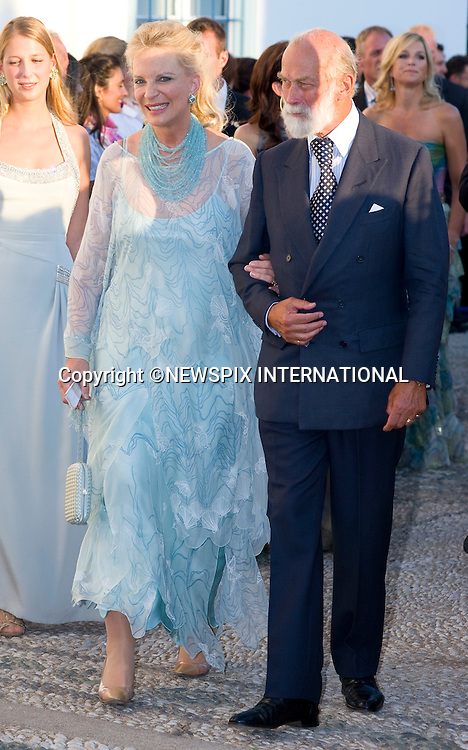 "Prince and Princess Michael of Kent_.The Wedding of Prince Nikolaos and Tatiana Blatnik attended by many members of European Royalty at St Nikolaos Church on the Island of Spetses_Grecce_24/08/2010.Mandatory Credit Photo: ©DIAS-NEWSPIX INTERNATIONAL..**ALL FEES PAYABLE TO: ""NEWSPIX INTERNATIONAL""**..IMMEDIATE CONFIRMATION OF USAGE REQUIRED:.Newspix International, 31 Chinnery Hill, Bishop's Stortford, ENGLAND CM23 3PS.Tel:+441279 324672  ; Fax: +441279656877.Mobile:  07775681153.e-mail: info@newspixinternational.co.uk"