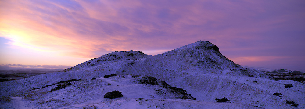 Winter sunrise over Arthurs Seat, Edinburgh
