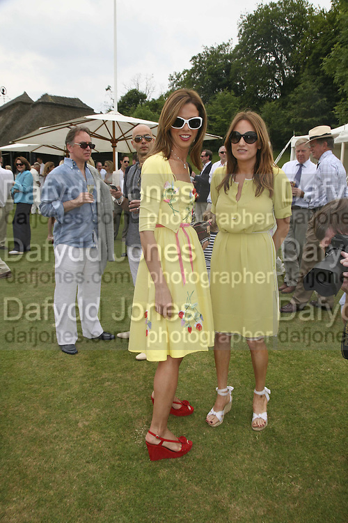 HEATHER KERZNER AND EMILY OPPENHEIM-TURNER, Guy Leymarie and Tara Getty host The De Beers Cricket Match. The Lashings Team versus the Old English team. Wormsley. ONE TIME USE ONLY - DO NOT ARCHIVE  © Copyright Photograph by Dafydd Jones 66 Stockwell Park Rd. London SW9 0DA Tel 020 7733 0108 www.dafjones.com