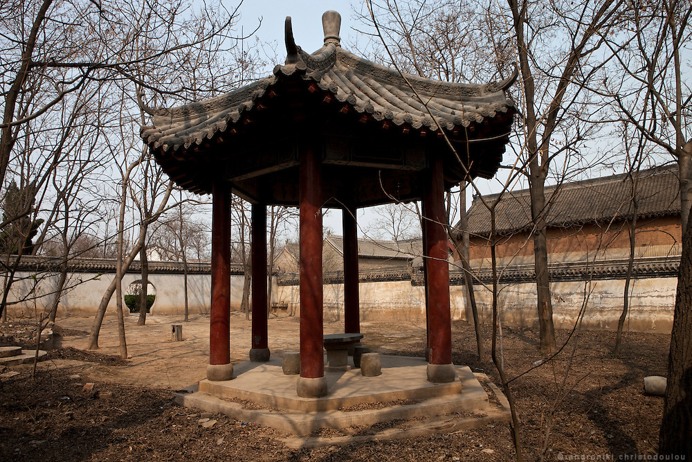 The inner yard of his house where Chen Changxing used to teach his students Taijiquan. There is still a very heavy stone there that it is said that the students used to lift as part of their trainning. The house of Chen Changxing is now a museum.