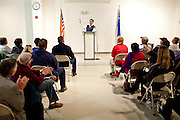 GOP presidential candidate Rick Santorum speaks at a campaign stop at the Churchill County Museum in Fallon, Nev., February 2, 2012.