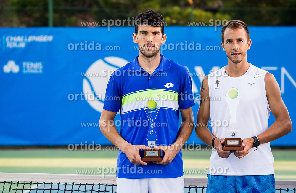 Runners up Franko Skugor (CRO) and Lukos Rosol (CZE) at trophy ceremony after the Doubles Final during Tennis tournament  ATP Challenger Zavarovalnica Sava Slovenia Open 2017, on August 11, 2017 in Sports centre, Portoroz/Portorose, Slovenia. Photo by Vid Ponikvar / Sportida