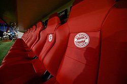 MUNICH, GERMANY - Wednesday, March 13, 2019: The home dugout seats at the Allianz Arena ahead of the UEFA Champions League Round of 16 2nd Leg match between FC Bayern München and Liverpool FC. (Pic by David Rawcliffe/Propaganda)