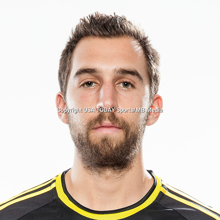 Feb 25, 2016; USA; Columbus Crew player Chad Barson poses for a photo. Mandatory Credit: USA TODAY Sports