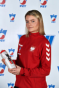Warsaw, Poland - 2017 December 08: Tennis player Katarzyna Wysoczanska from Poland poses while Photo Session of Fed Cup Team of Polish Tennis Association at Mera Tennis Club on December 08, 2017 in Warsaw, Poland.<br /> <br /> Mandatory credit:<br /> Photo by &copy; Adam Nurkiewicz / Mediasport<br /> <br /> Adam Nurkiewicz declares that he has no rights to the image of people at the photographs of his authorship.<br /> <br /> Picture also available in RAW (NEF) or TIFF format on special request.<br /> <br /> Any editorial, commercial or promotional use requires written permission from the author of image.