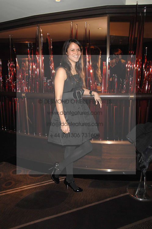 LISA MOORISH at the launch of the 4th Fashion Fringe - a search to recruit the hottest, undiscovered fashion desugn talent in the UK and Ireland, held at The Bar at The Dorchester, Park Lane, London on 13th March 2007.<br />