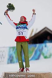 Olympic Winter Games Vancouver 2010 - Olympische Winter Spiele Vancouver 2010, Ski Jumping, Simon Ammann (SUI) celebrates first place, *Photo by Malte Christians / HOCH ZWEI / SPORTIDA.com.
