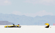 Best cars-people-atmosphere-photos of 2009 Bonneville Speed Week- The Tequila Sunrise IV, a 1932 American Bantam Roadster, driven by Amos Beard of Martinez, CA. pulls off the long track after making a run at the Bonneville Speed Way. August 9, 2009.  Photo by Colin E. Braley