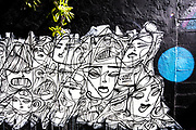 Mural of women's faces in Miami 's Wynwood Arts District