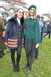 Left to right, PHOBE ROLLS and CHLOE HERBERT at the 2015 Hennessy Gold Cup held at Newbury Racecourse, Berkshire on 28th November 2015.