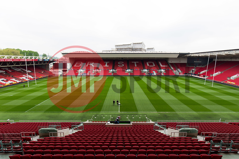 View from the Directors Box - Rogan Thomson/JMP - 06/05/2017 - SPORT - Ashton Gate Stadium - Bristol, England - Ashton Gate Matchday Commercial Images.