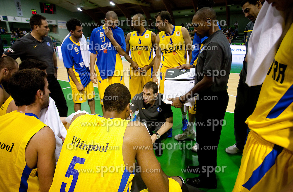 David Blatt, head coach of Maccabi during basketball match between KK Zlatorog Lasko and Maccabi Electra Tel-Aviv in 2nd Round of ABA League, on October 3, 2011, in Arena Tri Lilije, Slovenia. (Photo by Vid Ponikvar / Sportida)