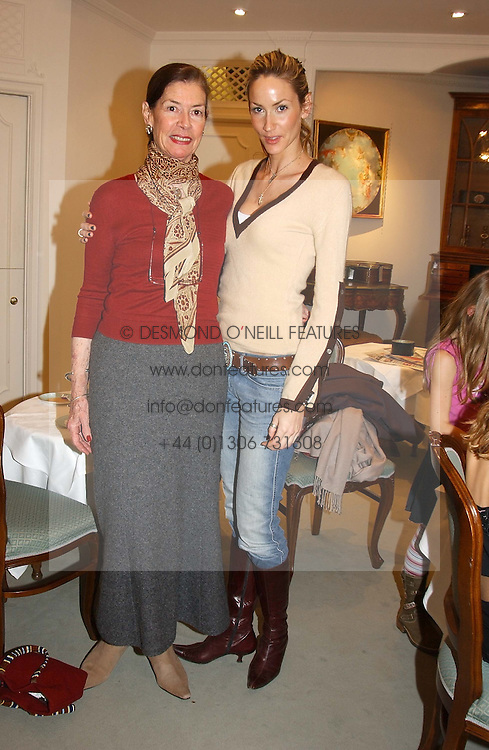 Left to right, DEIRDRE BUTCHER and her daughter LISA BUTCHER at a children's party in aid of the charity Over The Wall held at Fortnum &amp; Mason, Piccadilly, London before a gala premiere of the new musical Mary Poppins at The Prince of Wales Theatre, Old Compton Street, London W1<br />