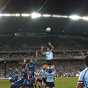 Teams challenge for a line out during the Super 14 match between the Waratahs and the Bulls at the Sydney Football Stadium, Sydney, Australia on April 11, 2009.  Photo Tim Clayton