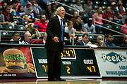 GARLAND, TX - NOVEMBER 11: SMU Mustangs head coach Larry Brown has words with an official against the Rhode Island Rams on November 11, 2013 at the Curtis Culwell Center in Garland, Texas.  (Photo by Cooper Neill/Getty Images) *** Local Caption *** Larry Brown