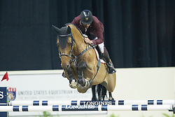 Mohammed Bassem Hassan, (QAT), Primeval Dejavu <br />  Longines FEI World Cup™ Jumping Final Las Vegas 2015<br />  © Hippo Foto - Dirk Caremans<br /> Final III round 2 - 19/04/15