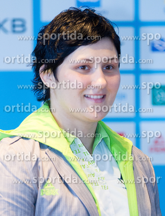 Lucija Polavder during presentation of Slovenian Olympic and Paralympic team for London 2012, on July 6, 2012 in Ljubljana's Castle, Ljubljana, Slovenia.  (Photo by Vid Ponikvar / Sportida.com)