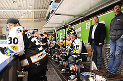 05.12.2010, Eisstadion Liebenau, Graz, AUT, EBEL, Graz 99ers vs Fehervar, im Bild Feature, Coaching Area, Moser Medical Graz 99ers, EXPA Pictures © 2010, PhotoCredit: EXPA/ J. Hinterleitner