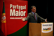 Cavaco Silva making a speech in a labour meeting in Lisbon. As a former prime-minister Cavaco Silva achieved important agreements with labour unions.