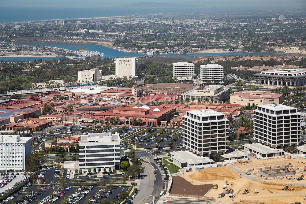 Aerial Stock Photo of Fashion Island in Newport Beach California