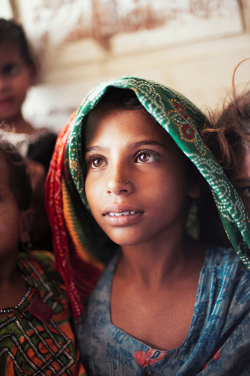 A girl within the government dispensary in the village of Muhammad Khan Malkani, Sindh, Pakistan on June 30, 2011.