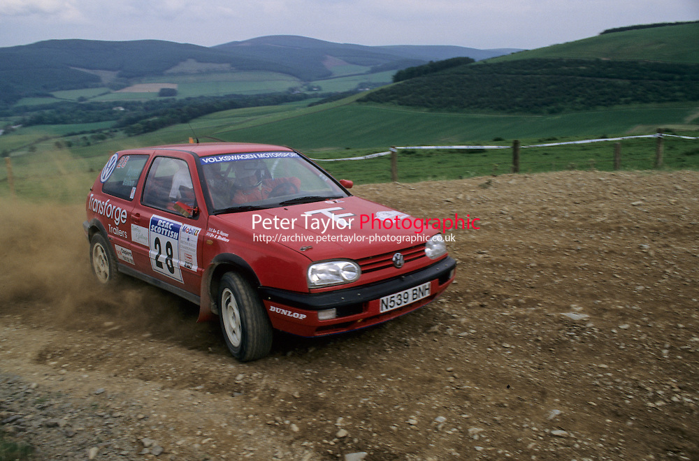Mobil 1/RAC British Rally Championship 1997. RSAC Scottish Rally. Ashley Blenkhorn / Greg Haynes. VW Golf GTi. World Copyright: Peter Taylor/PSP. Copy of publication required for printed pictures. Every used picture is fee-liable..