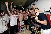 DESCRIZIONE : Forli DNB Final Four 2014-15 Gecom Mens Sana 1871 Eternedile Bologna<br /> GIOCATORE : team<br /> CATEGORIA : esultanza postgame<br /> SQUADRA : Eternedile Bologna<br /> EVENTO : Campionato Serie B 2014-15<br /> GARA : Gecom Mens Sana 1871 Eternedile Bologna<br /> DATA : 13/06/2015<br /> SPORT : Pallacanestro <br /> AUTORE : Agenzia Ciamillo-Castoria/M.Marchi<br /> Galleria : Serie B 2014-2015 <br /> Fotonotizia : Forli DNB Final Four 2014-15 Gecom Mens Sana 1871 Eternedile Bologna