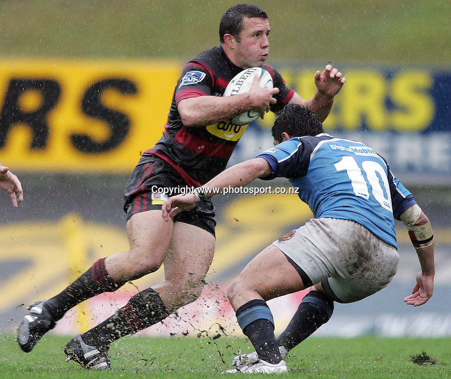Aaron Mauger in action during the Air New Zealand Cup rugby union match between Northland and Canterbury at ITM Stadium, Whangarei, New Zealand on Saturday 5 August, 2006. Photo: Hannah Johnston/PHOTOSPORT<br /> <br /> <br /> <br /> <br /> <br /> 050806