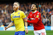 Leeds United midfielder Adam Forshaw (4) in action  during the EFL Sky Bet Championship match between Nottingham Forest and Leeds United at the City Ground, Nottingham, England on 1 January 2019.