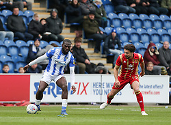 Frank Nouble of Colchester United on the ball - Mandatory by-line: Arron Gent/JMP - 27/04/2019 - FOOTBALL - JobServe Community Stadium - Colchester, England - Colchester United v Milton Keynes Dons - Sky Bet League Two
