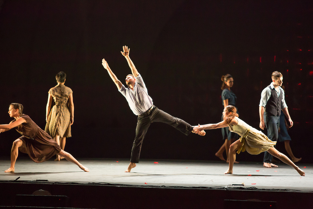 "Dancers in Barak Marshall's ""Harry""."