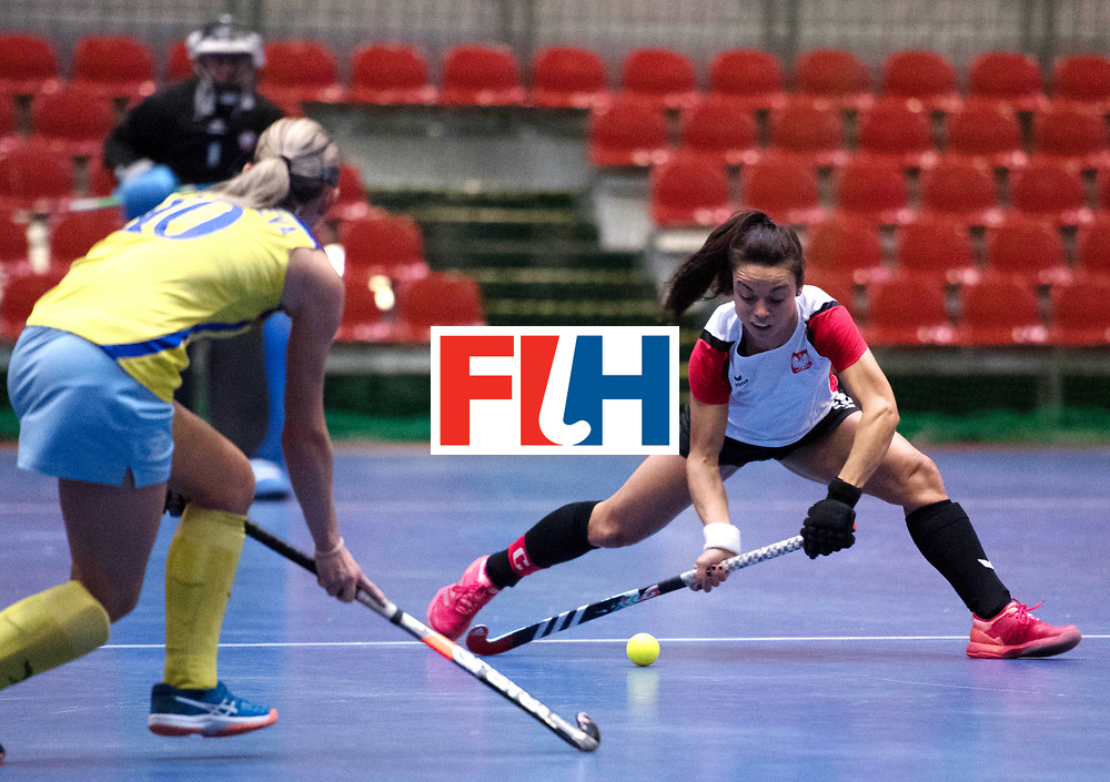 BERLIN - Indoor Hockey World Cup<br /> Poland - Kazachstan<br /> foto: RYBACHA Marlena (C)<br /> WORLDSPORTPICS COPYRIGHT FRANK UIJLENBROEK