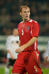 MONCHENGLADBACH, GERMANY - Wednesday, October 15, 2008: Wales' James Collins during the 2010 FIFA World Cup South Africa Qualifying Group 4 match against Germany at the Borussia-Park Stadium. (Photo by David Rawcliffe/Propaganda)