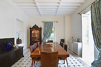 Cyprus dining room of colonial style house