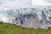 The Railroad Grade Trail follows a lateral moraine of the Easton Glacier which flows from the south side of Mount Baker. Mount Baker National Recreation Area, Washington, USA.