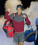 Switzerland's Roger Federer during first day of the Barclays ATP World Tour Finals at the O2 Arena, London, United Kingdom on 9 November 2014. © Phil Duncan | Pro Sports Images