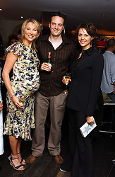 "Left to right,  KATE SHARMAN, tv presenter RICHARD ORFORD and tv presenter BEVERLEY TURNER at a party to celebrate the publication of a ""Diary of A C List Celebrity"" by Paul Hendy held at Bar 19/21 Soho House, 21 Old Compton Street, London W1 on 13th July 2004."