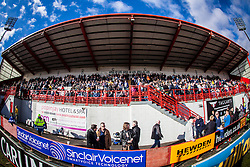 Falkirk fans in the stand before kick-off..Hamilton 1 v 2 Falkirk, Scottish Cup quarter-final, Saturday, 2nd March 2013..©Michael Schofield.