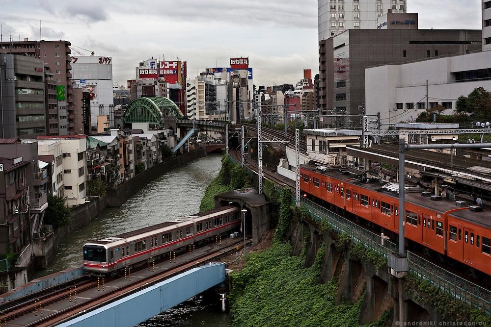 View of the Kanda river in Ochanomizu, Tokyo